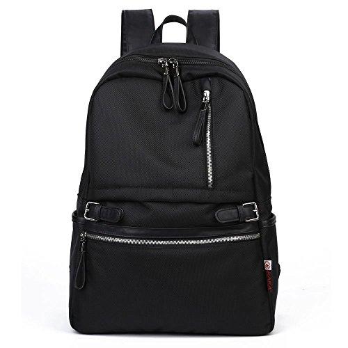 KAKA-Stylisch-Mdchen-Jungen-Schulrucksack-College-Backpack-Teenager-Schultasche-Outdoor-Freizeit-Daypacks-Freizeitrucksack-Schwarz-2188