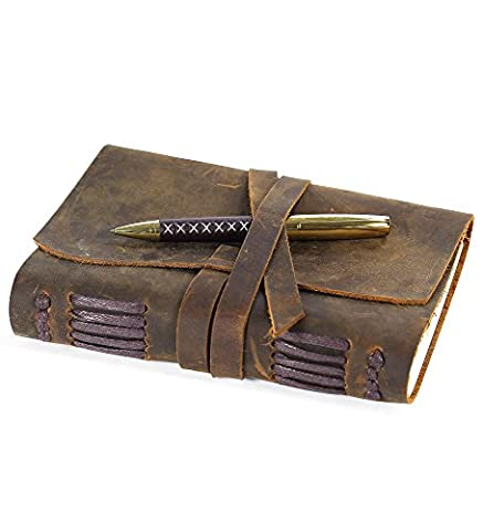 Leather Journal Writing Notebook, Handmade Vintage Bound Notebook For Men & Women, Antique Leather Travel Diary 7