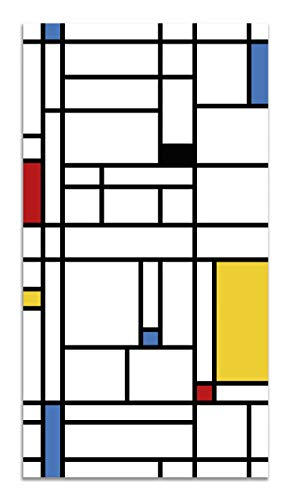 Panorama Alfombra Vinílica Mondrian 200x250cm - Alfombra Cocina Vinilo - Alfombra Salón Antideslizante...