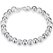 Unisex mujeres hombres pulsera brazalete bañado en plata cadena para el cuerpo en forma de bolas joyas