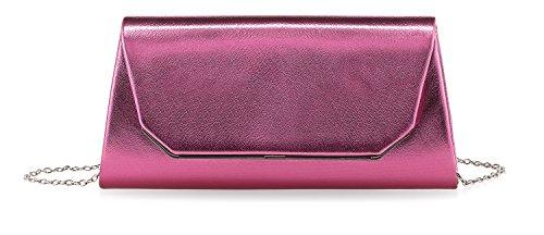Tamaris Damen Clutch 2608181-510 Damen Abendtasche in Pink Rosa (Synthetik-leder-clutch Geldbörse)