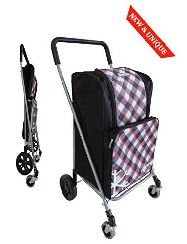 Entfernen Rad (Einkaufswagen 4 Räder BO TIME - Faltbar - Mit einer Kühler Fronttasche - Großkapazität 63L)