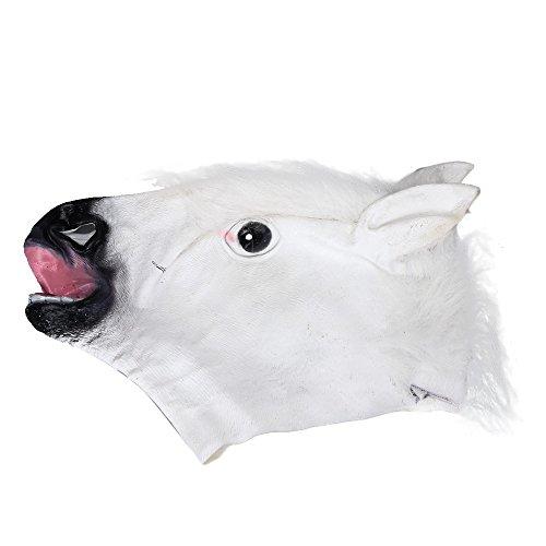 Holloween Kostüm Einfach - Mypace 2019 Neueste Holloween Maske Dekoration Pferdekopf Maske Latex Tier Kostüm Prop Gangnam Style für Halloween (C)