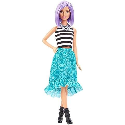 Barbie Fashionistas - Muñeca, peinado morado (Mattel DGY59)