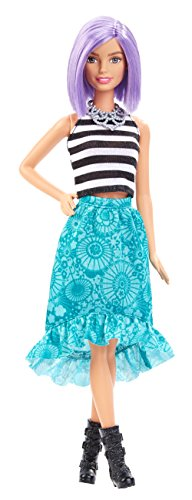 Mattel Barbie DGY59 - Modepuppe, Fashionista mit blauem Stufenrock -