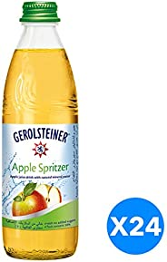 Gerolsteiner Apple Spritzer in Glass bottle - 330ml (Pack of 24)