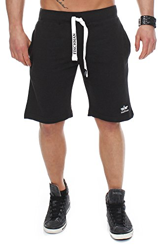 Finchman 90T2 Herren Cotton Sweat Short Kurze Hose Bermuda Schwarz L -
