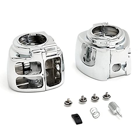 OEM Motorcycle Parts Handlebar Switch Chrome Housings Cover Fit For Harley Davidson Sportster Dyna Softail VRod 1996 1997 1998 1999 2000 2001 2002 2003 2004 2005 2006 2007 2008 2009 2010 2011