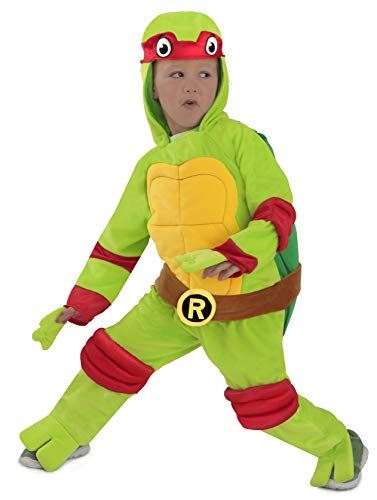 Kostüm Clan Foot - TMNT Teenage Mutant Ninja Turtles Raphael One-Piece Jumpsuit (12/18M)