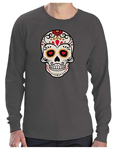 Los Sugar Rock T Manches Dia Longues De Muertos Mr Squelette Shirt Homme uKl1JFcT3