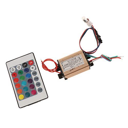 F Fityle AC12V 3-9W AC24 9-18W IR Fernbedienung Controller Netzteil Treiber Driver für RGB LED Strip Downlights, Betriebsgröße:63 x 30 x 20 mm -