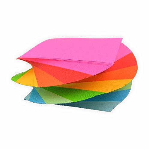 Spiral Notizklotz Spirale Zettelklotz gedreht in Regenbogen farben 80g/m², 280 Blatt in 5,5x5,5cm geleimt