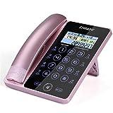 Health UK Telefon- Kabelgebundenes Telefon mit Anrufer-ID/Anklopfen, Lautsprecher, XL-Neigungsanzeige, XL-Taste und Audio-unterstützter Lautstärkeregelung Welcome (Farbe : Pink)