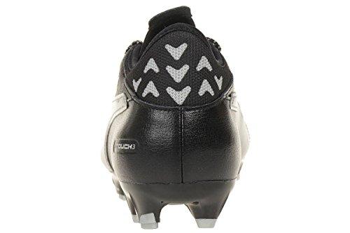 evoTOUCH 3 FG Cuir - Crampons de Foot - Noir/Argent silver