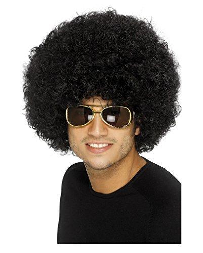 70s Funky Schwarz Afro - Afro Halloween-kostüm Black