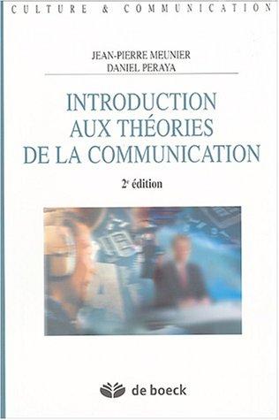 Introduction aux théories de la communication : Analyse sémio-pragmatique de la communication médiatique