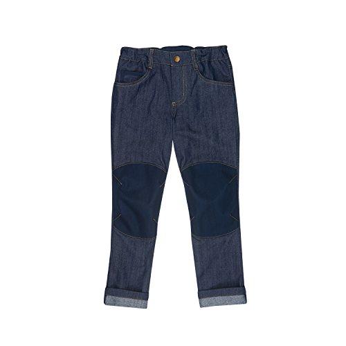 Finkid Kuusi denim navy verstärkte Kinder Outdoor Jeans mit Karottenschnitt, Denim, 90/100