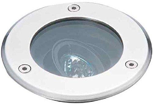 Rutec 59050 Bodeneinbaustrahler 50W GZ10 Außen-Ø 149mm, Edelstahl-Ring, Silber, 1