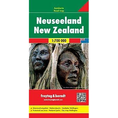Neuseeland 1:700.000: Wegenkaart 1:700 000 / 1:15 000