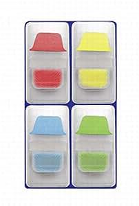 Avery Zweckform 8371 Mini HaftRegister im Spender,Blau Gelb Grün Rot,25x38 mm,40 Stück