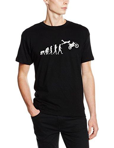 Shirtzshop–maglietta da argento edition super cross ii motocross enduro mx moto evolution, unisex, silber edition supercross ii motocross enduro mx motorrad evolution t-shirt, nero, xl