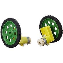 REES52 BOSET BO Motor 100 RPM 2 Pieces + BO Wheel 2 Pieces + BO Motor Clamp with Screws 2 Pieces