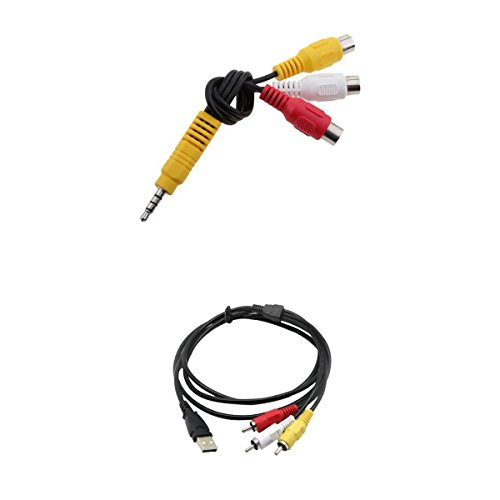 Homyl Usb Stecker zu 3x RCA Stecker Audio Kabel +3.5mm Klinke auf 3 Cinch Buchse Chinch Kabel Audiokabel Klinkenkabel aux kabel