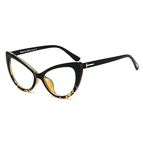 Damen Sonnenbrille T Rivet Katzenaugen groß für Frauen PC-Rahmen klare Linse Sonnenbrille umrandeten klassische Retro-Sonnenbrille der Dame Persönlichkeit fahren UV-Schutz Sonnenbrille .