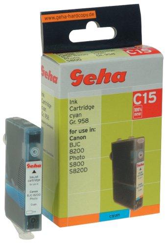 Geha Tintenpatrone für Canon ersetzt Nr. BCI-6C cyan