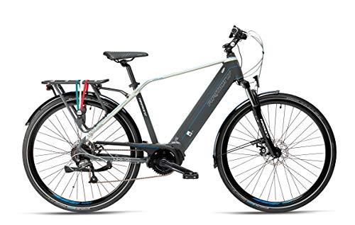 """Armony Arese, Bicicletta Elettrica Unisex Adulto, Scuro Grigio Betulla, 28\"""""""