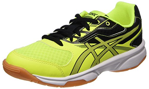 ASICS Upcourt 2 GS, Scarpe Sportive Indoor Unisex-Bambini, Giallo (Safety Yellow/Dark Grey/Black 0795), 39 EU