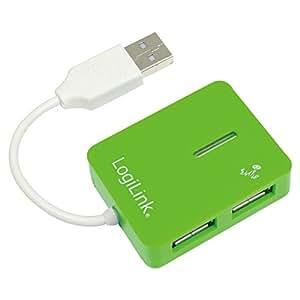 UA0138 USB 2.0 Hub Smile 4-Port - Hub - 4 x Hi-Speed USB, grün