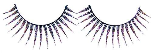 Künstliche Wimpern Rainbow Glitter - False Eyelashes für Erwachsene zum Kostüm Karneval Mottoparty