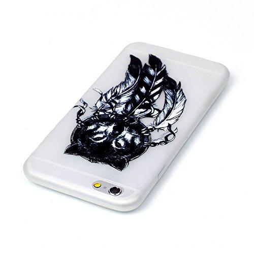 6 6S Hülle, iPhone 6 6S Hülle, SATURCASE Schönes Muster Leuchtend Fluoreszierend Ultra Dünn Weich TPU Gel Silikon Schützend Zurück Case Cover Handy Tasche Schutzhülle Handyhülle Hülle für Apple iPhone Muster-5