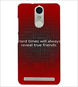 PrintDhaba Quote D-3926 Back Case Cover for LENOVO K5 NOTE (Multi-Coloured)