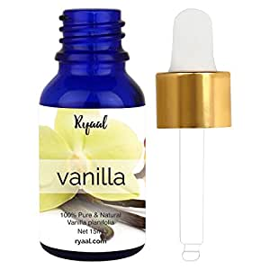 Ryaal Vanilla Essential Oil - 15ML- 100% Pure Undiluted Therapeutic Grade 10 Fold Extraction. Perfect for Aromatherapy, Relaxation, Skin Therapy & More! (15ml)
