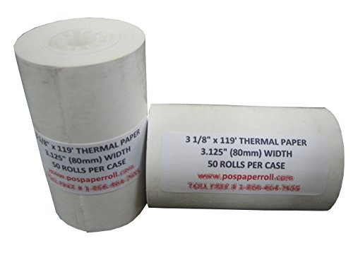 50-first-data-3-1-8-x-119-thermal-credit-card-paper-rolls-by-pospaperrollcom