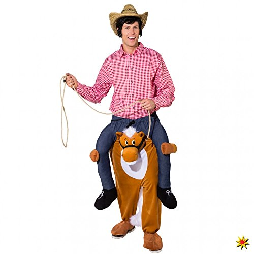 ORLOB KARNEVAL GmbH Caballito de Disfraces Caballo me Viste Disfraz de Carnaval Disfraz de Vaquero Carry me