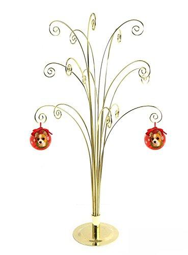 HOHIYA Metall Ornament Display Baum Ständer Weihnachten Halloween Ball Kugel Hund Katze Foto Glas Personalisierte Ornaments Haken Home Party DIY Art Craft Geschenk 50,8cm (Schwarz)