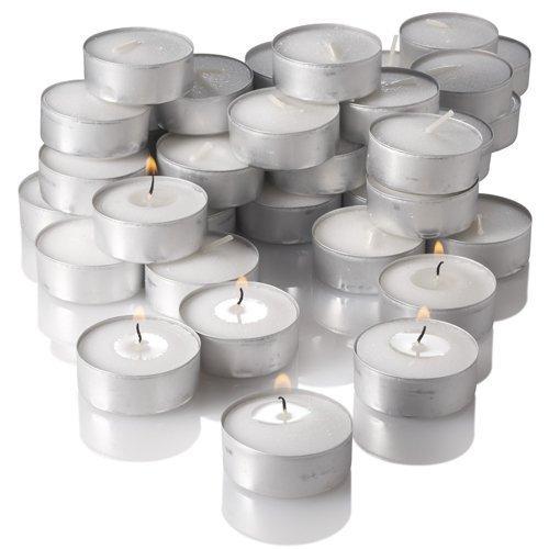 Pure Source India Wax Tea Light Candle (White, Set of 100) Smokeless...