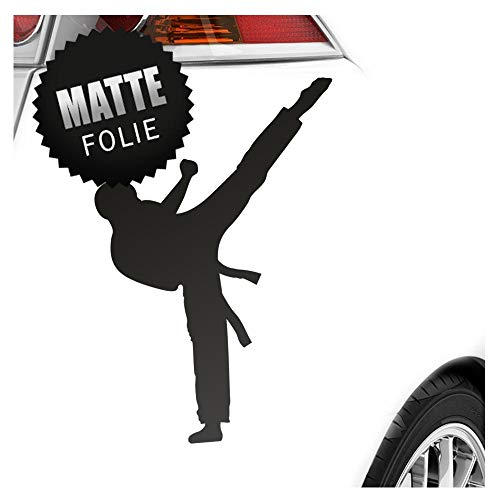 Karate Kampfsport Kämpfer Aufkleber Sticker 25 Farben Neon Matt -