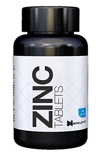 Zink Tabletten Hochdosiert - Zink-Histidin für Alltag, Sport, Fitness & Bodybuilding | Immunsystem stärken & Stoffwechsel beschleunigen | Neosupps Zink - 100 Tabletten (Pille Nehmen-cup)