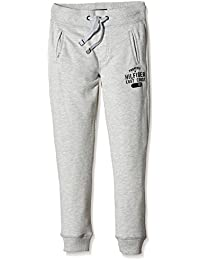 Tommy Hilfiger HILFIGER SWEATPANT - Pantalones de deporte Niñas, Grau (LIGHT GREY HEATHER 001), 8