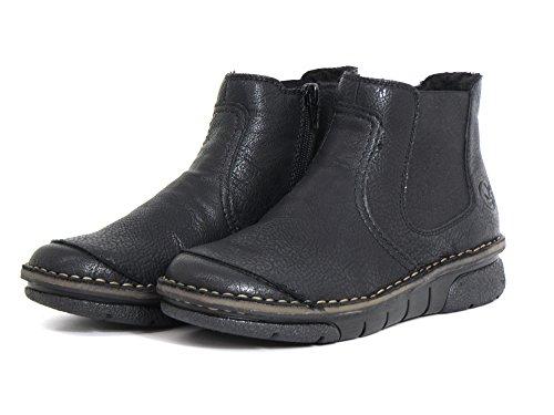 Rieker Donna stivaletti nero, (schwarz) 73380-00 schwarz