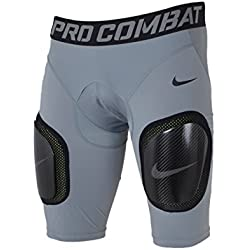 Nike Mens Pro Combat Hyperstrong Compression Carbon Plate Girdle Shorts (2XL, Grey/Black)