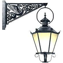 APAC Leuchten GARTEN 61 Historische Hängeleuchte mit Wandarm