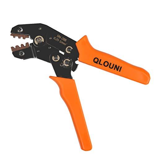QLOUNI Dupont Crimpwerkzeug SN-28B Crimp Tool Crimpzangen für 28-18AWG, 0.1-1.0mm² Dupont Ratsche-Crimper für 2.54mm Verbindungstecker -
