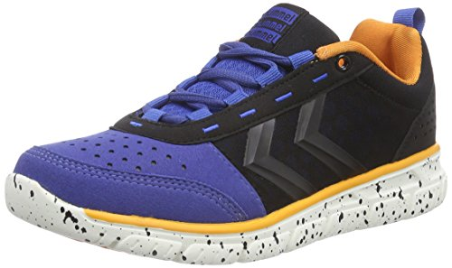 Hummel HUMMEL CROSSLITE Q, Chaussures indoor mixte adulte Bleu - Blau (Turkish Sea 7524)