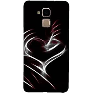 Casotec Heart Line Design 3D Printed Back Case Cover for Huawei Honor 5c