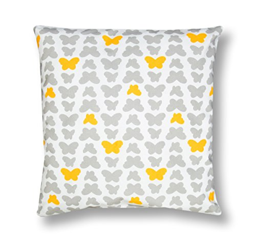 Amilian/® Handcrafted Decorative Art-Deco Indian Print Grey//White 100/% Cotton Premium Quality Durable Throw Cushion Cover Pillowcase Only 40 cm x 60 cm